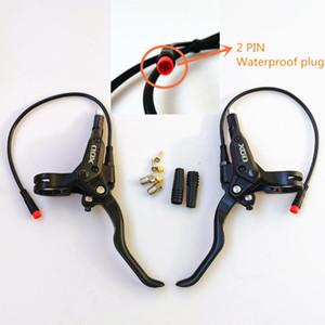Freno de bicicleta de bricolaje Freno de bricolaje Frenos traseros delanteros Ebike Scooter Disco hidráulico Corte de freno de alimentación 2pin Tapón impermeable