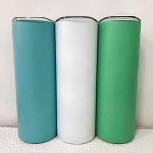 20oz Glow in the dark Cup Sublimation Straight Tumbler Stainless Steel Skinny Tumblers Insulated Coffee Mug Outdoor Portable Water Bottle