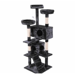 "60 ""Cat Tower Condo Condo Furniture Scratching Post Kitty Jlerk XMH_HOME"