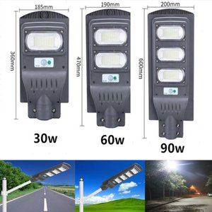 IP65 30W 60W 90W LED Solar Lamp Wall Street Light Super Bright Radar PIR Motion Sensor Outdoor Garden Security Lamp