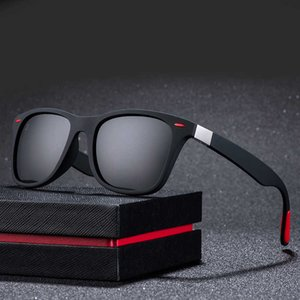 ZXWLYXGX Classic Hommes Polarisés Femmes Feu design Feu Conduite Carré Cadre Sunglasses Male Goggle UV400 Gafas de Sol57Go