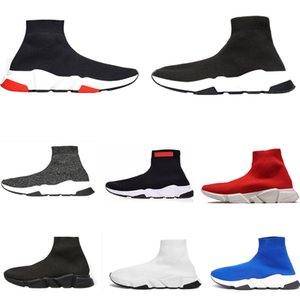 2021 New Sock Shoes Speed Trainer Runner Triple Black stretch Glitter Paris Fashion Clear Sole Women Mens Casual Sneakers Platform trainers