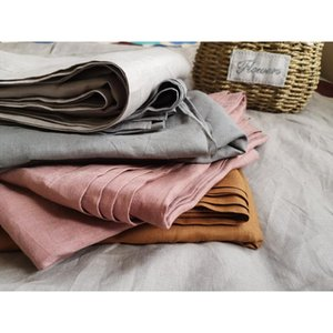 Sheets & Sets 100% Linen Sheet Natural France Flax Bed Breathable Flat Type 240x260mm