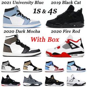 1 Basketballschuhe Obsidian Royal Toe Black Toe Männer Frauen Air Jordan 3 Retro UNC Air Jordan 4 White Cement PSG Outdoor Herren Sport Turnschuhe 36-47