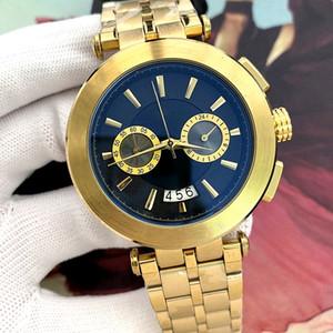 Daydate Mens Watches Мода черный циферблат автоматический календарь золотой браслет скидка мастер мужчин носить подарок мужская одежда часы высококачественных военных