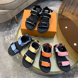 Luxury leather sandals thick soled Velcro summer cool comfort size 35-40