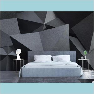 3D Photo Wallpaper Roll Abstract Geometric Mural Wall Papers Home Decor Living Room Papel Mural Madera Makeup Backdrop 5Cais Ccr65