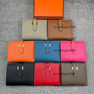 Top quality espom Short Wallets Gold hardware Whole Leather Women Card holders Purse fashion Cowskin Genuine leather come with box 5120