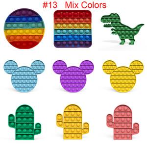 57 Styles Push Pop Bubble Fidget Sensory Toy Autism Special Needs Stress Reliever Toys Adult Kids Funny Antistress Fidget Toys 2252