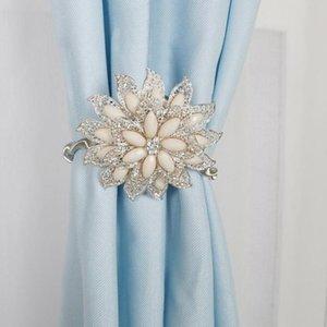 Mandala sagomata elegante tenda magnetica tiebacks legal backs fibbia clip decorazione della casa accessori per tende