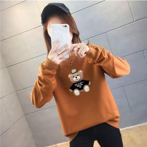 Hoodies Women Bear Pattern Cute Ins Sweatshirts Womens Fashion Chic All-match Casual Pullovers Ladies Harajuku Leisure Newest Clothing Daily