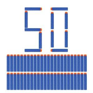 50pcs 8colors Soft Bullet Head Foam Bullets for Nerf N-strike Elite Series 7.2cm*1.3cm L0311