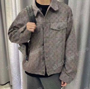 21SS Men Stampato T Shirt Paris Denim Giacca Dark Jacquard Dark Uomo Vestiti Manica corta Mens Camicie Tag Lettere Nuovo Grigio