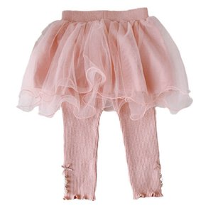 Girls Leggings Lace Baby Skirts Pants Kids Tights Toddler Clothes Infant Clothing Spring Autumn Cotton Newborn Trousers Wear 0-3T Princess B8653
