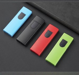 Portable Colorful USB Charging Lighter Windproof Travel Innovative Design for Cigarette Dab Rig Glass Water Bong Smoking Pipe DHL