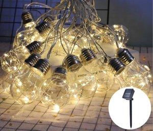 Solarlampen G50 Birne Kupferlampe Solarlampe Saite Garten Garten Dekoration Wasserdichte Lampe String Spot