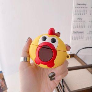 For AirPod 1 2 3 pro Case 3D Cute scream chicken Cartoon Soft Silicone Wireless Earphone Cases For Apple Airpods Case Cute Cover Funda