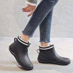 Hot Rain Boots Womens Gummi Anti-Skid Bunte Unisex Knöchelstiefel Leichte Slip auf Stiefel Schuhe Wasserdose Drop Shipping