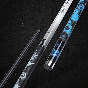 2020 New Arrival Poinos Black Maple Shaft Pool Cue Stick 13mm 11.5mm Tip Size Leather Handle Blue Grey Colors1
