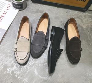 Ловики черный двойной монаток ремешок обувь формальное платье деловые туфли мужчины Оксфорд кожаная мода головки обувь мокасин Homme de luxe