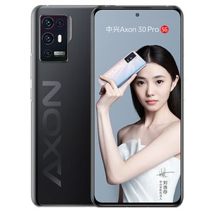 Original ZTE AXON 30 Pro 5G Mobile Phone 6GB RAM 128GB ROM Snapdragon 888 Octa Core 64.0MP Android 6.67 inches AMOLED Full Screen Fingerprint ID Face NFC Smart Cell Phone