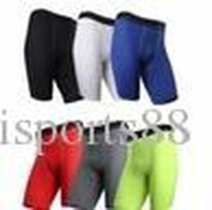 Men Pocket Fitness Shorts Quick Dry Tights Pants Running Jogging Leggings Yoga Male Compression Gym Fitness Clothing Training Sport Trouser