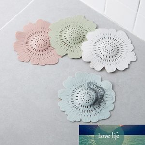1Pcs Sewer Drain Gadgets Hair Colander Supplies Kitchen Accessories Flower Shape Multi Purpose Strainers Filter 4Colors Silicone