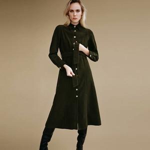 2021 New Autumn Winter Woolen Women Single-breasted Fashion Blet Ladies Jacket Long Overcoat Female Casual Wool Coat 1ALX
