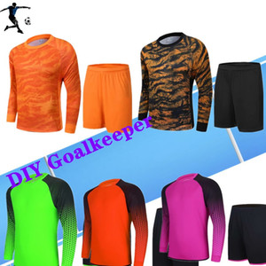 Long sleeve DIY goalkeeper Customized service Your team DIY Soccer Jersey Adult kit breathable services school team Any club football Shirt
