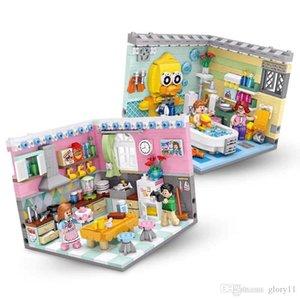 DIY Mini Blocks Living Room Bedroom Kitchen Bathroom for Birthday Gift With Original Box