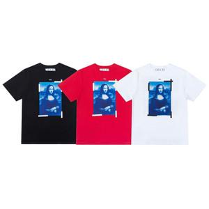 NEU AUS NStyle White Mona Lisa Ölgemälde Kurzarm T-Shirt im Frühjahr und im Sommer 2021