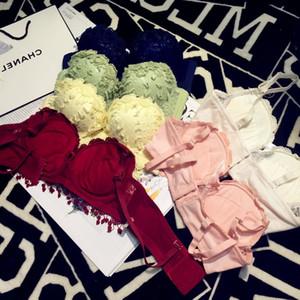 928 Cotton Gathered Bra Professional Fashion Girls Underwear Set