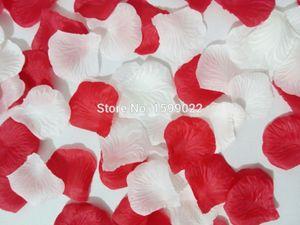 20packs 2000pcs Romantic artificial petals roses for wedding table decorations red mixed white petalas de rosas para casamento