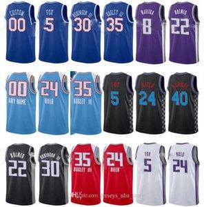 Imprimir Baloncesto Marvin Bagley III Jersey 35 Tyrese Haliburton 0 DeAaron Fox 5 Harrison Barnes 40 City Ganed Edition Número de nombre personalizado