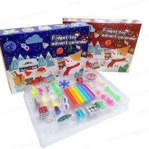 24шт Рождественский Fidget игрушка слепой коробку Партия Азрима календарь для девочек Мальчики Детские взрослые сюрприз с удивлением рельефный стресс рассчитывает отпуск