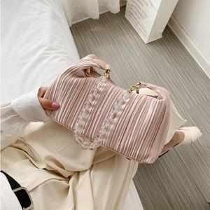2021 Mode Perle Kette Frauen Umhängetaschen Beiläufige Nette Weibliche Handtasche Abend Clutch Lady Portion Bolsos de Mujer