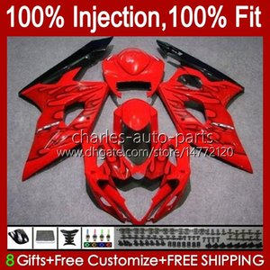Molde de inyección corporal para Suzuki GSXR 1000CC 1000 CC K5 GSXR1000 05 06 Bodywork 11HC.67 GSXR-1000 2005 2006 Cowling GSX-R1000 GSX R1000 05-06 Carreying OEM Llamas negras Blk