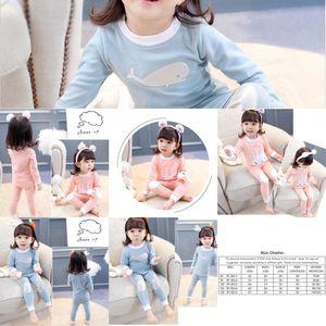Jamas Longs Ensembles Longues Rabbit Pajamas Imprimés Pyjamas Vêtements Enfants Enfants Enfants Toiles de nuit Suit deux pièces Nightwear de Noël