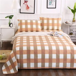 Yaapeet Bedding Flat Sheet Bed Sheets Bed Cover Home Decor Colorful Striped Plaid Printed Linen Bedspreads King Queen Size