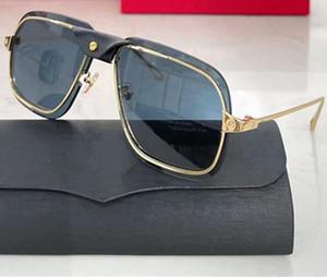 0243 Nuevas gafas de sol populares Hombres Square Gafas de sol con brazos de metal y metal Simple Casual Style Glasses UV 400 Protección Enviar con paquete