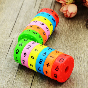 6 piezas Montessori Montessori Juguetes Aprendizaje temprano Juguetes educativos para niños Matemáticas Números de negocio DIY Montaje de rompecabezas