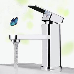 Modern Chrome bacia banheiro torneira Single Handle Sink Mixer Toque Deck Montado novos e vendendo quentes 30pcs