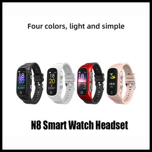N8 Smart Watchs headset 2 in 1 Heart Rate Fitness Tracker Blood Pressure IP68 Water PROOF GPS Sports Bluetooth PK DZ09 Android Smart Watch