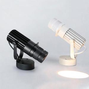 Projetor LED Industrial Spotlights 7W 10W 15W 20W LED Tecto Tecto Preto Tracking Spot Lamp 4 Logo Lâmpada Do Projetor