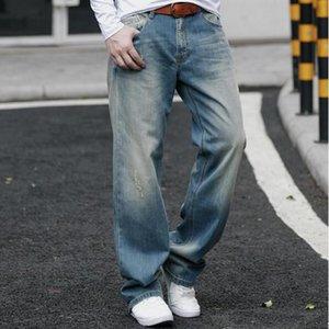 New Denim Jeans Men Loose Jeans Four Season Male straight Pants Plus size 29-42