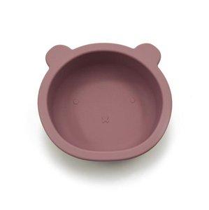 سيليكون السلطانية الطفل تغذية المائدة الدب شكل لوحة مع غير زلة مصاصة الرضع الطفل وعاء التغذية أطباق HHC6639
