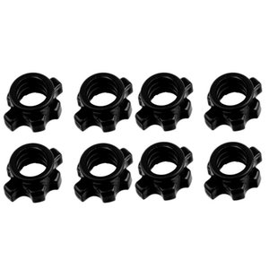 8Pcs Dumbbell Bar Nut Anti-Slip Spinlock Collars Screw Clamps for Dumbell Weight Lifting Fitness Equipments Accessories