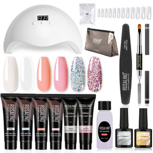 Poly Nail Gel Kit Lamp Gel Polish Set All for Manicure Art Poly Gel For Extension Tool Kit Professional Set