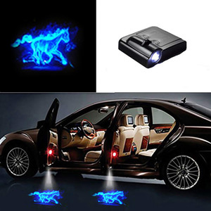 1pcs Universal Wireless LED Shadow Projector Courtesy Step Lights Welcome Lights Cars Door Shadow Light Laser Emblem Lamps Kit