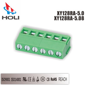 100Pieces PC Package PCB Screw Type Welding Green Terminal for Inverter connectors Plug-in Green Terminal Block Electrical Terminal Block